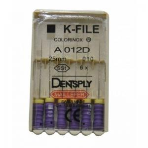 Dent Dentsply Maillefer K-FILE 25mm 010