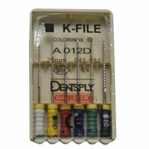 Dent Dentsply Maillefer K-FILE 25mm H45-80